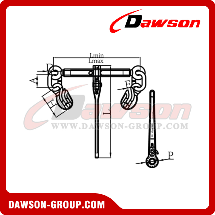 DS1030 G100 RATCHET BINDER WITH SAFETY HOOKS - DAWSON GROUP LTD. - CHINA MANUFACTURER SUPPLIER, FACTORY