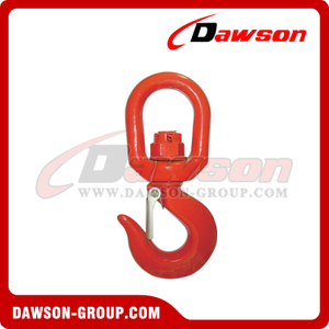 G80 / Grade 80 Swivel Hook with Safety Latch for Heavy Duty Crane Lifting Chain Slings