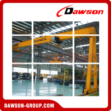 DIN/FEM Standard Electric Semi Gantry Crane