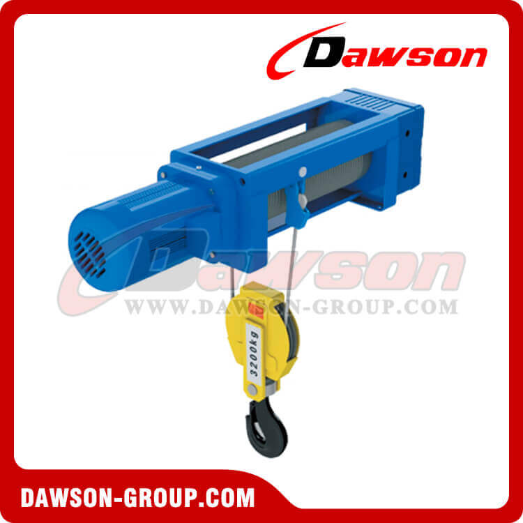 Foot-Mounted Electric Wire Rope Hoist (2/1 Rope Reeving) For Wire ...