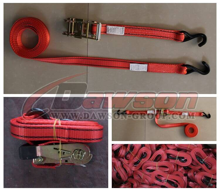 1 inch 20 feet Fixed Endless Ratchet Strap - Red Webbing- China manufacturer supplier (2)