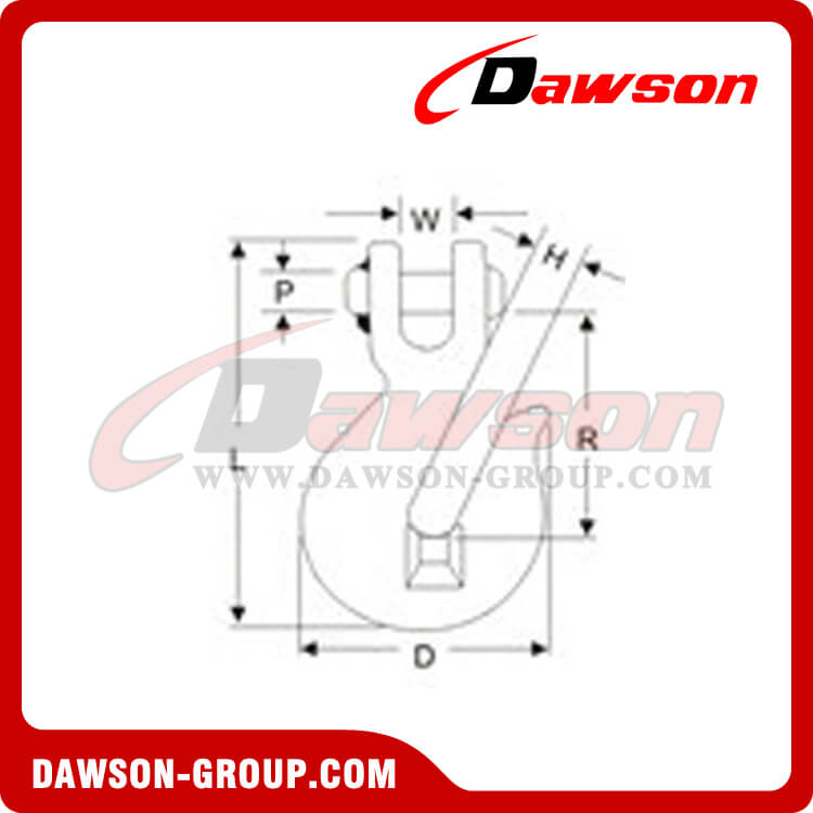 DSCK G70 CLEVIS GRAB HOOK dawson group