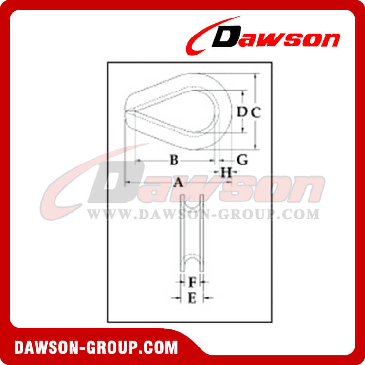Extra Heavy Wire Rope Thimbles, Dawson Supply Dawson-group - Dawson Group Ltd. - China Manufacturer, Supplier, Factory, Exporter