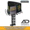 Arc Shape Round Unipole Billboard Advertising Hoarding