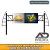 Spanning Road Gantry Steel Outdoor Advertising Billboard Sign Structure