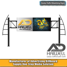Spanning Road Gantry Billboard Sign