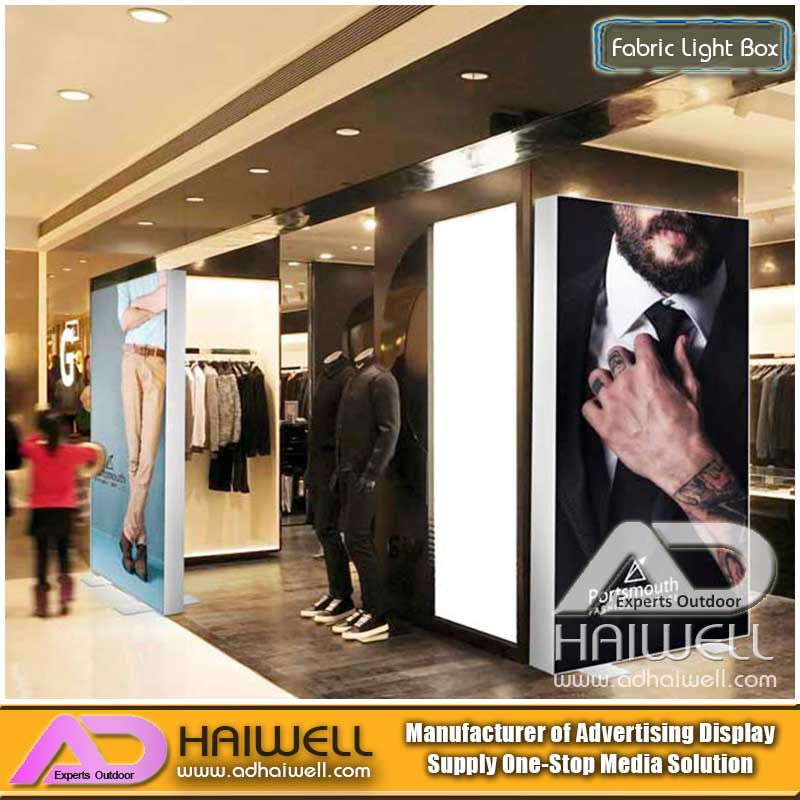 LED rahmenlose Aluminiumgewebe Lichtbox Digital Display Screen Signage