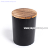 Wholesale Heat Resistant Matte Black Glass Candle Tumber for Wedding Or Church