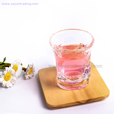 Mini Round Mouth Square Clear Glass Cup for Drinking White Wine And Whiskey