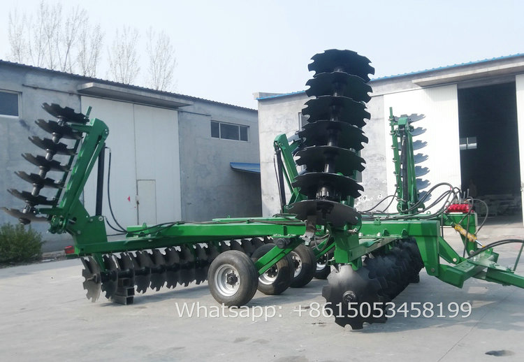 Farm tools wheeled disc harrow for tractors