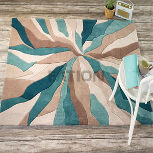 Modern Indoor Acrylic Floor Carpet Handmade Area Rug