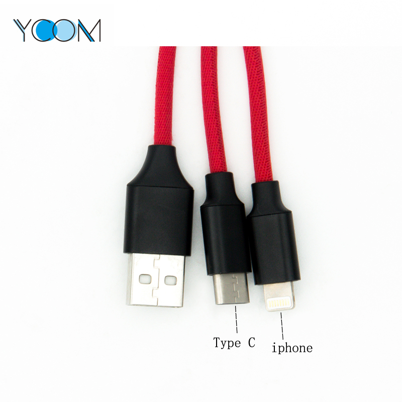 USB Lightning Cable 2 in 1 for Type C and iPhone