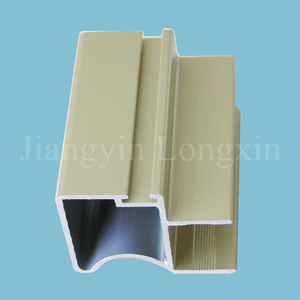 Yellow Powder Coating Aluminum Frame for Window and Door