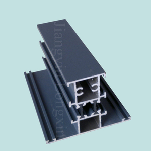 Grey Powder Coated Aluminum Frame for Casement Windows, Thremal Break