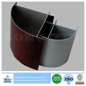 Wooden Transfer Aluminum Profile as Corner