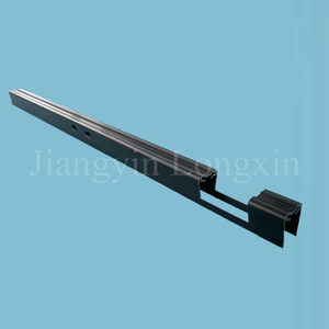Black Anodized Aluminium Profile for Curtain with Machining