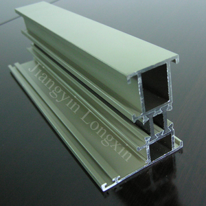 White Powder Coating Aluminum profile for casement Windows with Thermal Break