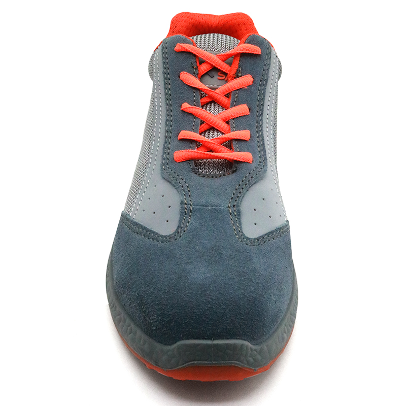 Oil Slip Resistant Steel Toe Puncture Proof Sport Safety Shoes for Work