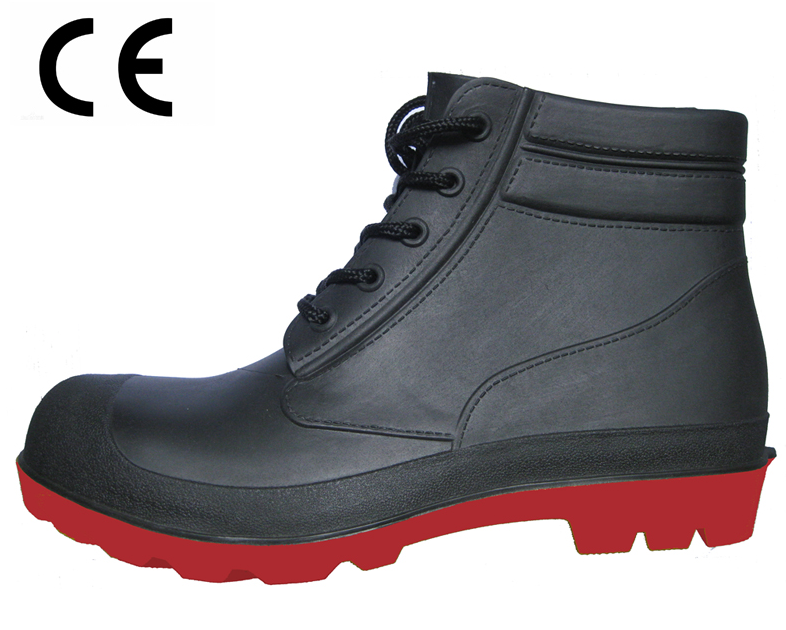 CE standard steel toe ankle pvc safety shoes