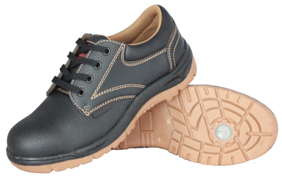 PU upper and PVC sole cheap men work safety shoes