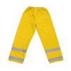Heavy duty yellow PVC polyester PVC water proof raincoats with reflective stripe