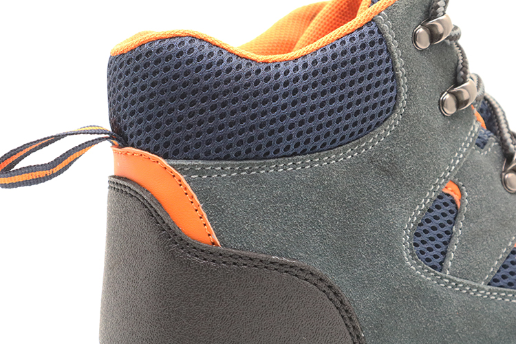 SD006 suede leather sport safety shoes with steel toe
