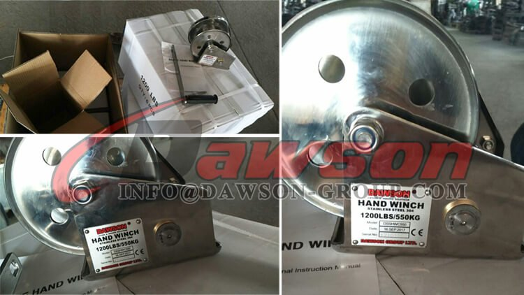 1200LBS SS304 Small Stainless Steel Reversible Hand Winches - China Supplier, Factory