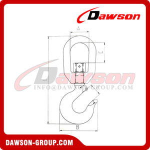 DS508 LD2805 Forged Super Carbon Steel Swivel Hook