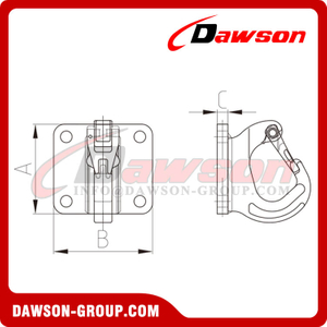 DS884 Weld-on Hook with Base