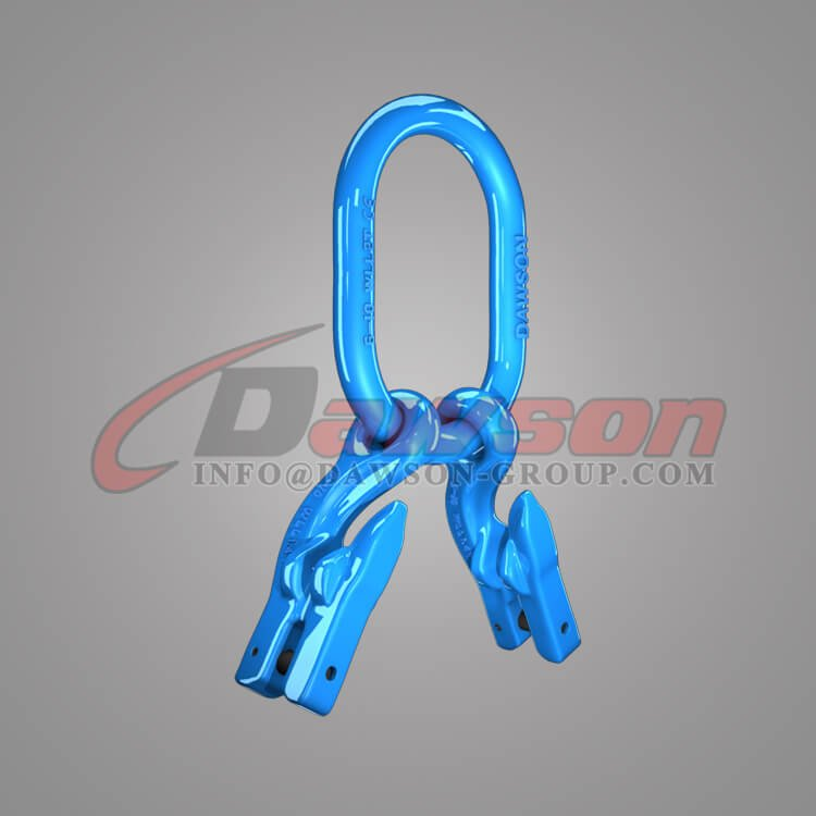 Grade 100 Master Link for Chain Slings + Grade 100 Eye Grab Hook with Clevis Attachment × 2 - Dawson Group Ltd - China Supplier