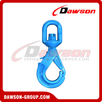 G100 / Grade 100 Special Swivel Self-locking Hook with Grip Latch for Chain Slings