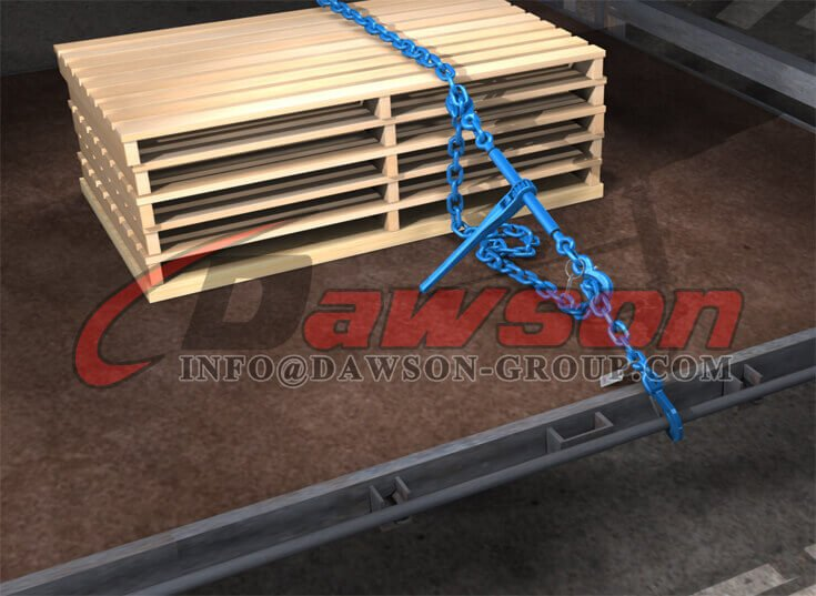 Application of Grade 100 Ratchet Type Load Binder with Safety Hooks - Dawson Group Ltd. - China Manufacturer, Supplier