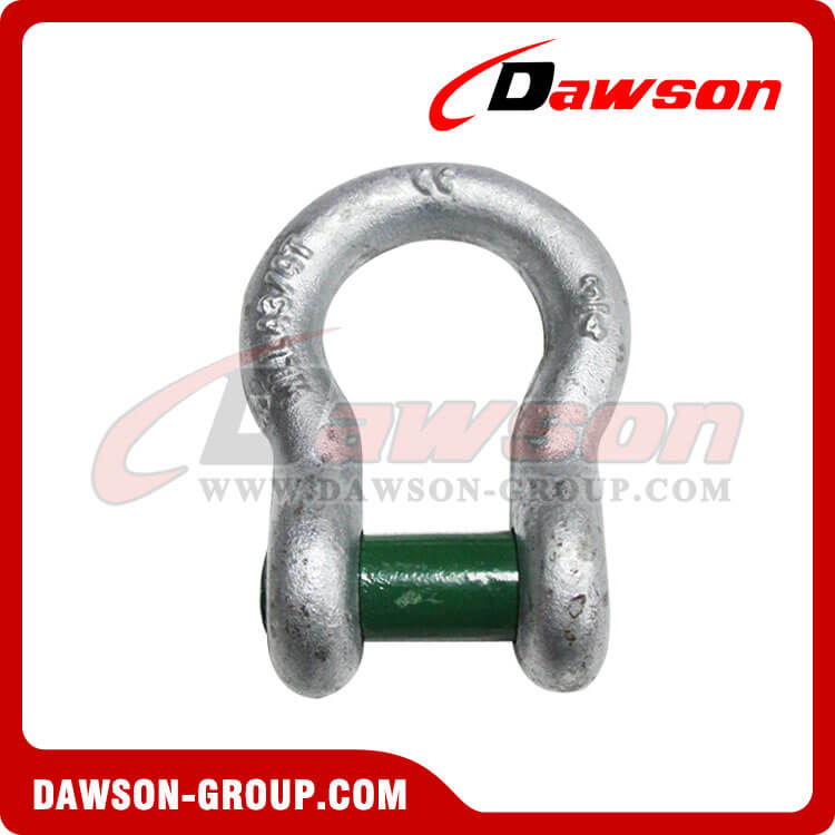 Drop Forged Trawling Bow Shackle with Square Sunken Hole