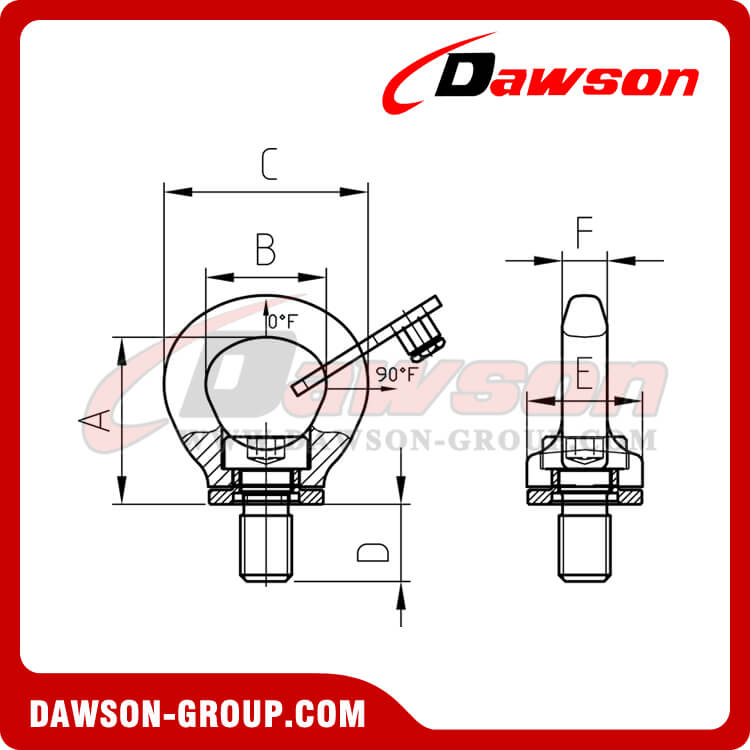 DS902 G80 New Design Swivel Hoist Ring