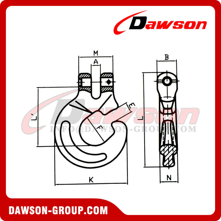 G100 / Grade 100 Clevis Forest Hook for Logging