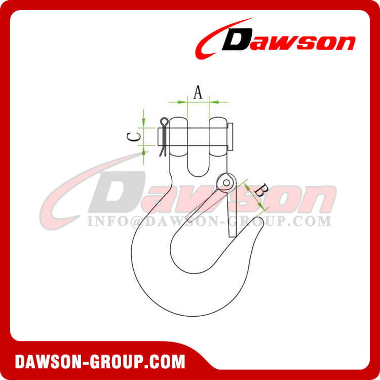 Stainless Steel Clevis Slip Hooks