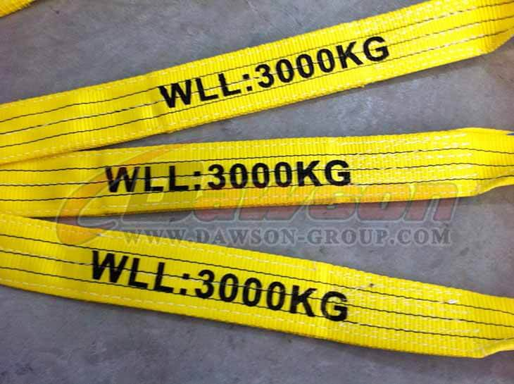 WLL 3 Ton Polyester Webbing Slings - Lifting Slings - Dawson Group Ltd. - China Supplier