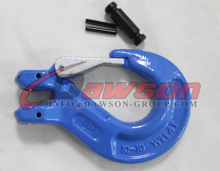 Grade 100 Clevis Sling Hook With Safety Latch for Chain Sling - Dawson Group Ltd. - China Factory