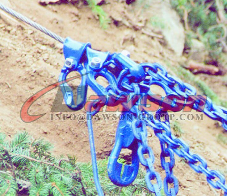 Application of Grade 100 Chain Rope Connector for Logging - Dawson Group Ltd. - China Factory