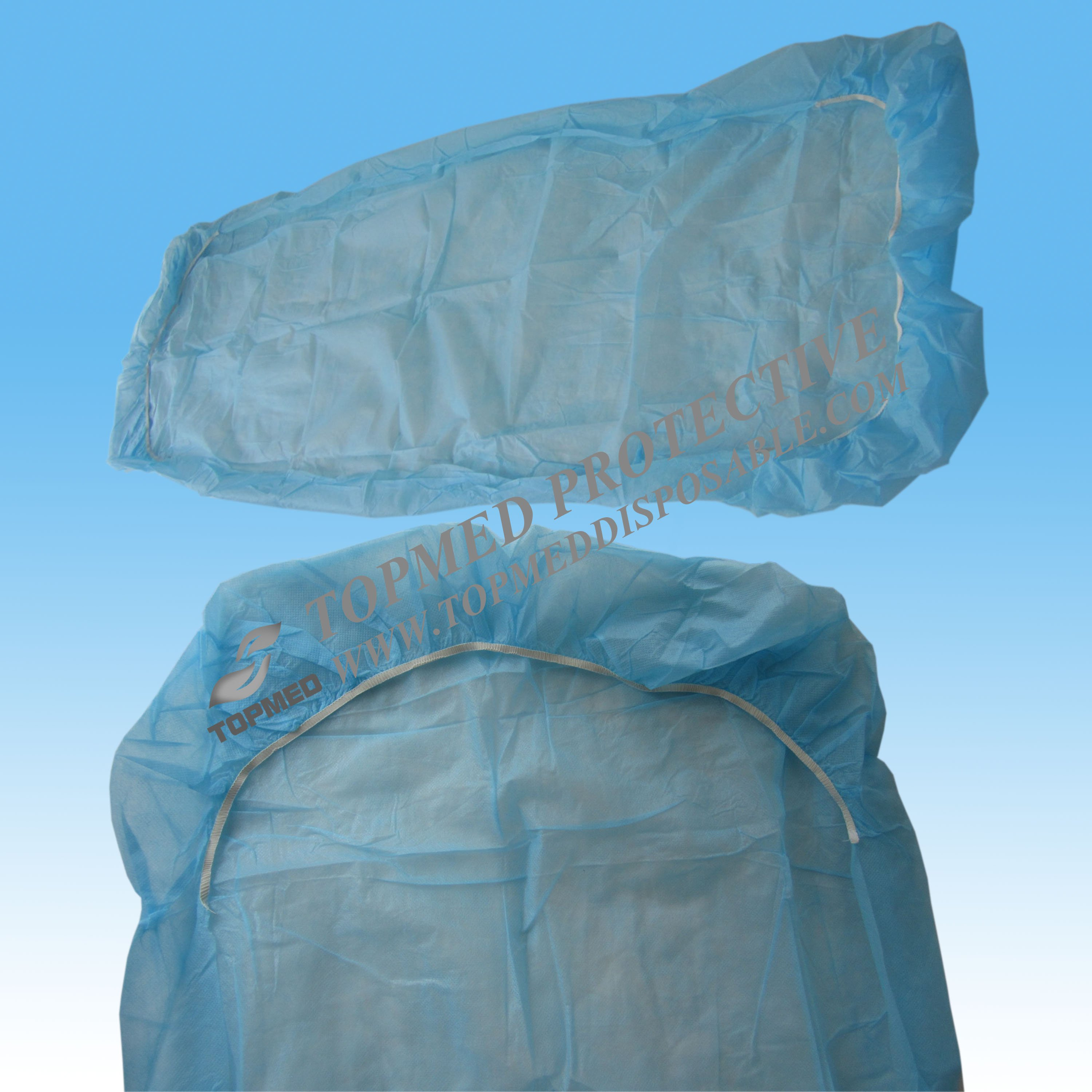 Nonwoven PP/PP+PE/SMS disposable fitted medical hospital bed cover with elastic around