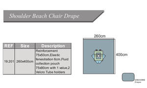 Eo Sterilized Shoulder Beach Chair Drape