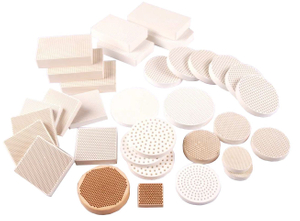 Ceramic honeycomb filter slice