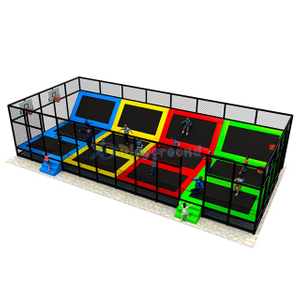 Indoor Amusement Park Equipment Commercial Trampoline Park