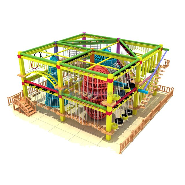 Customized Great Amusement Park Theme Adventure Ropes Course for Kids