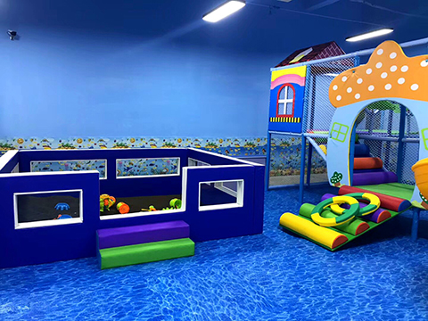 Toddler area for Ocean theme indoor playground