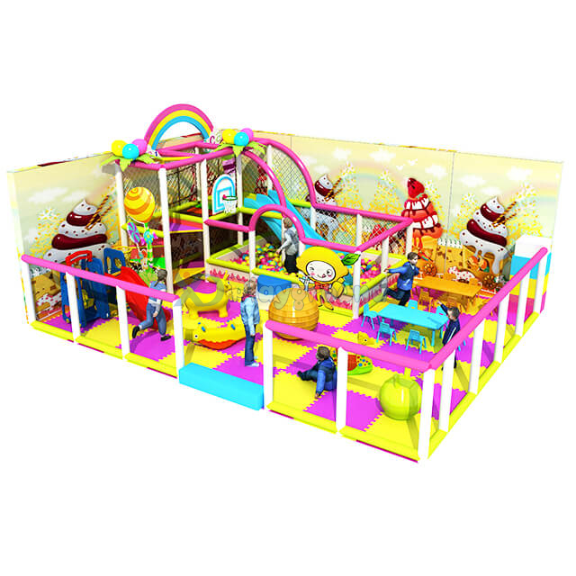 Candy Themed Soft Kids Indoor Playground with Ball Pit