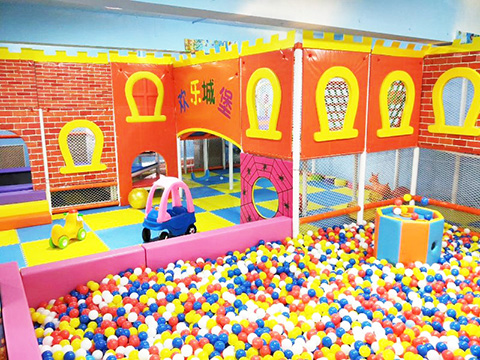 Candy Theme Indoor Playground Case in Shanghai