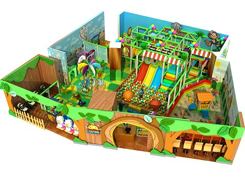 design drawings of jungle theme indoor playground