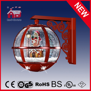 (LW30033A-RR11) Festival Red Holiday Wall Lamp Decorative LED Lamp with Music