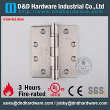 DDSS001-4.5x4x3.0mm-Stainless Steel 316 Durable UL Fire Rated Ball Bearing Hinge for Steel Door